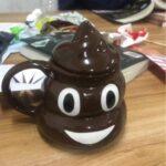 Poop Emoji Mug with Swirly Handgrip Lid photo review